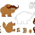 Шаблоны быка для аппликации