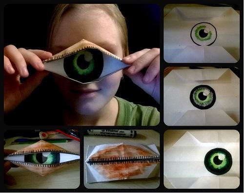 Глаз циклопа из бумаги