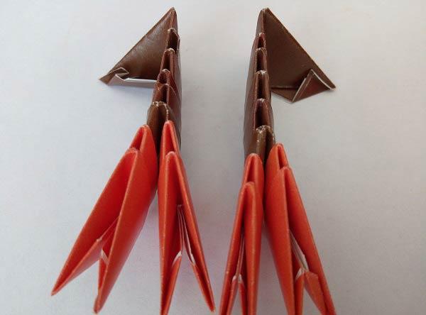 Модульное оригами клешни краба