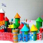 Замок из цветной бумаги