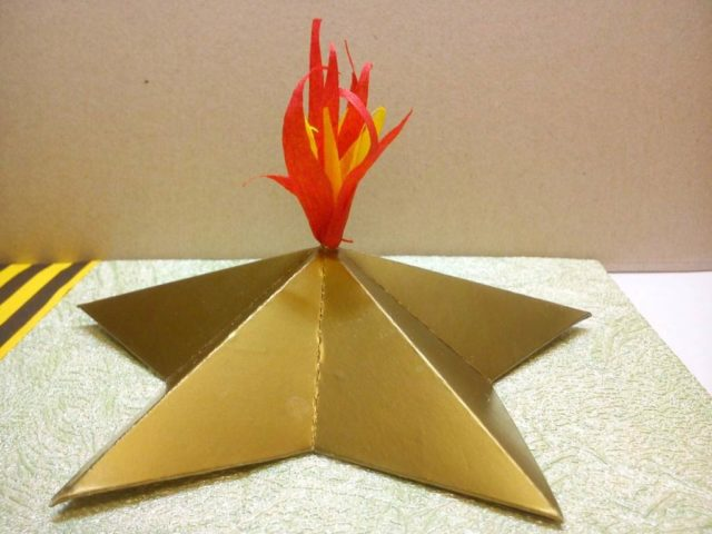 Макет звезды для постамента