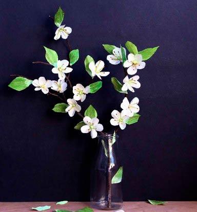 Веточка сакуры с цветками