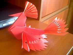 Птица счастья из картона