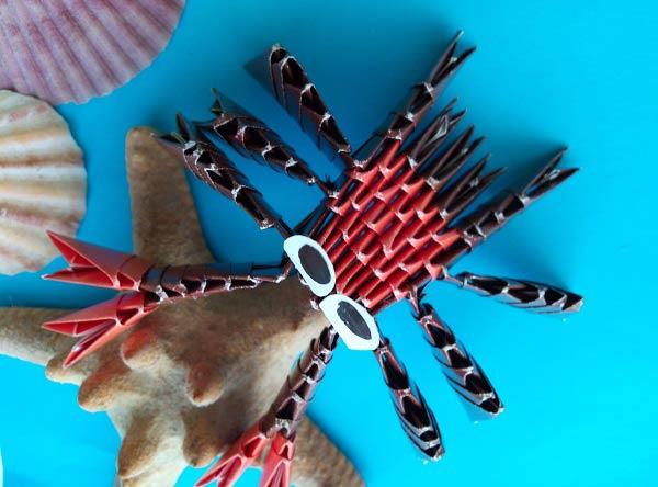 Модульное оригами крабик