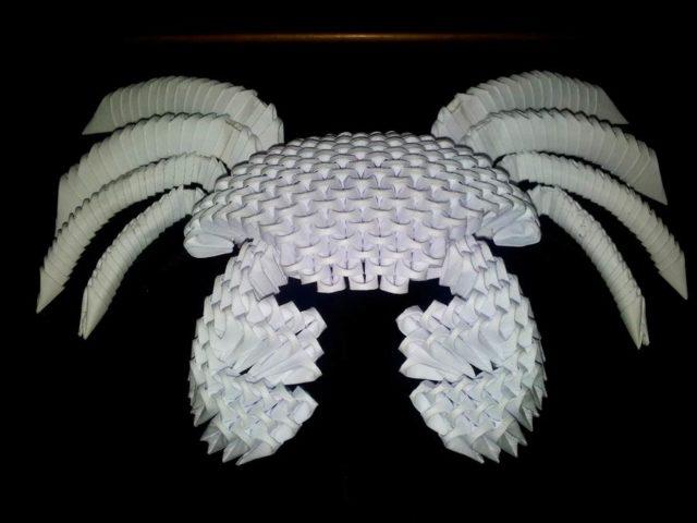 Модульное оригами большой краб