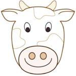 Шаблон маски быков