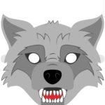 Маска волчонка, шаблон