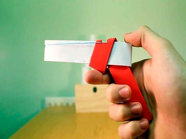Пистолет оригами