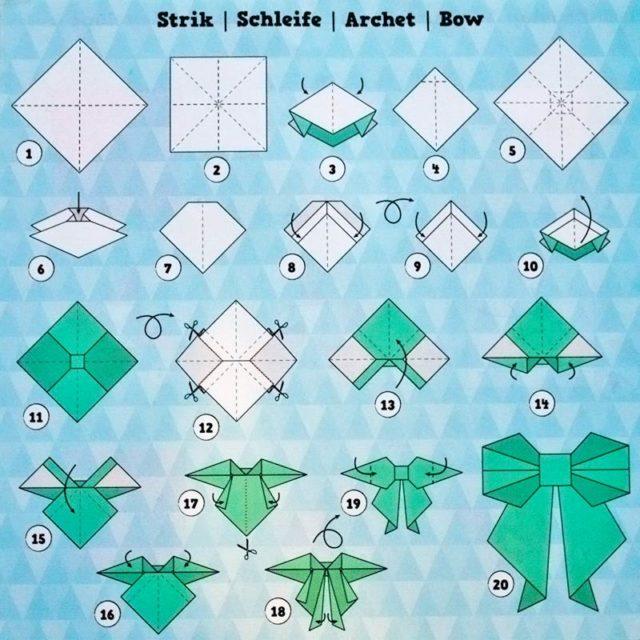 Схема складывания в технике оригами