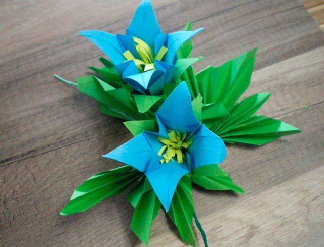 Оригами колокольчики