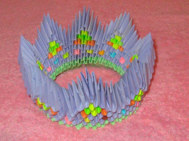 Модульное оригами, сборка короны