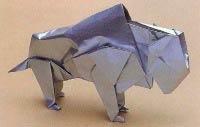 Бык оригами