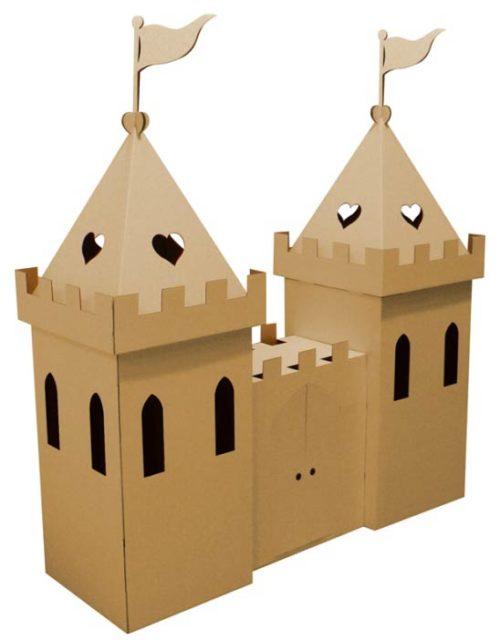 Башни замка из картона