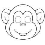 Шаблон мордочки обезьянки