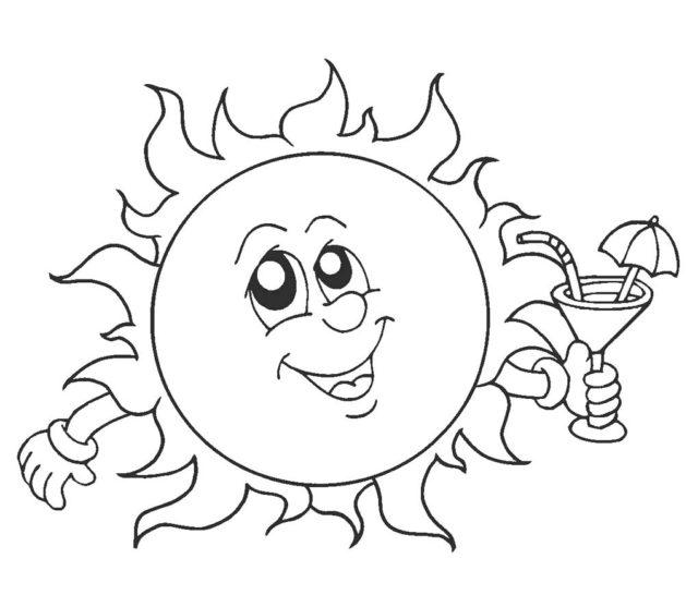 Шаблон солнца