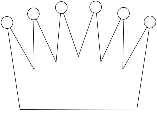 Шаблон короны на голову
