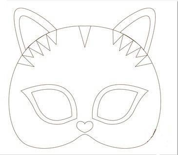 Шаблон мордочки кошки