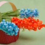 Цветы гиацинта оригами