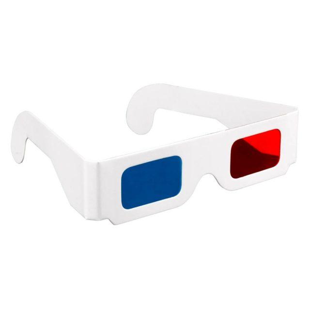 Бумажные очки 3д