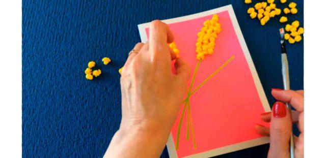 Создание цветов мимозы