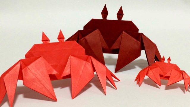 Оригами крабы