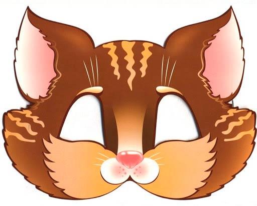 Шаблон мордочки кота