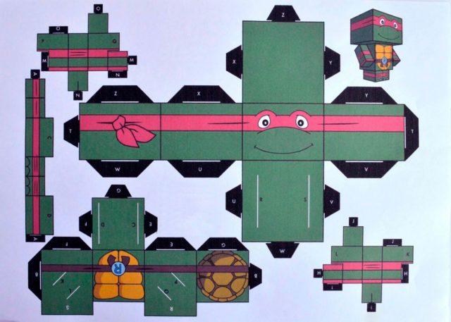 Шаблон для вырезания черепахи