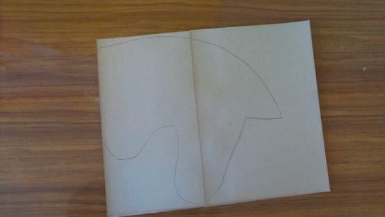 Голова лошадки из картона