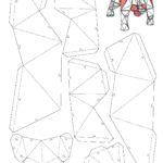 Бык в технике паперкрафт