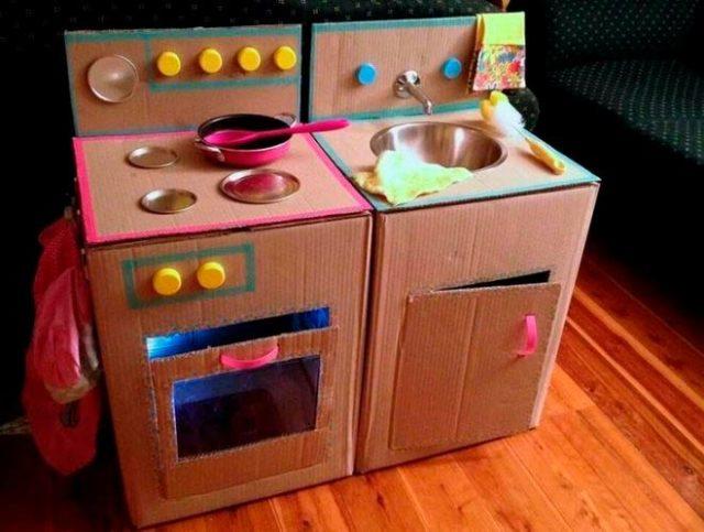 Макет картонной кухни