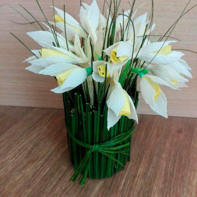 цветы из гофробумаги