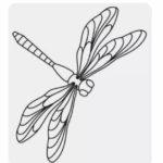 Шаблон стрекозы из бумаги для вырезания