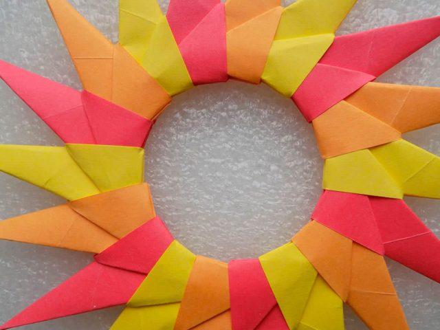 Модули оригами для солнца