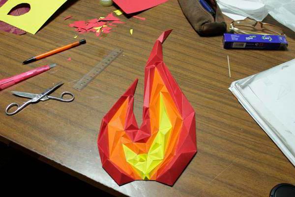 Огонь оригами