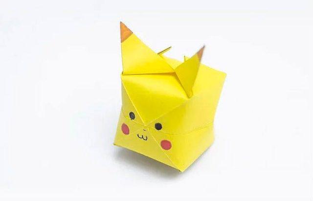 Оригами пикачу, объемный