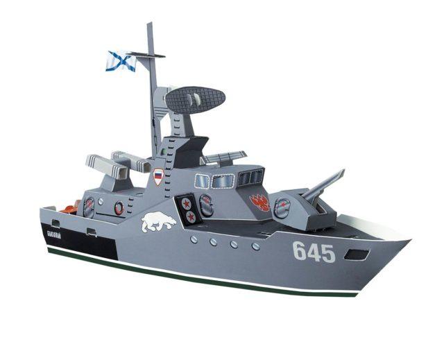 Военный корабль из бумаги