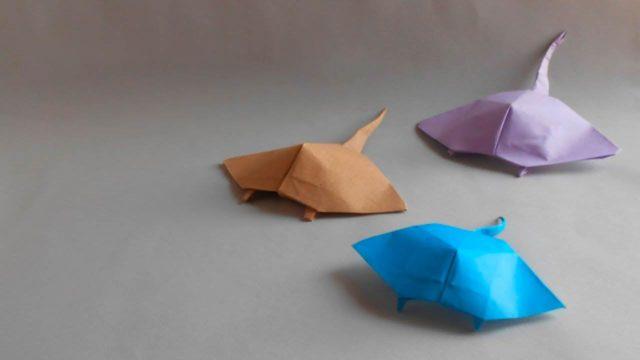 Морской скат из бумаги