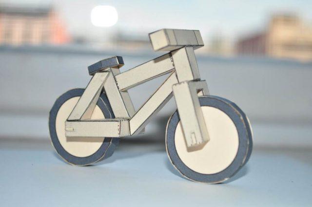 Велосипед из бумаги