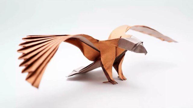 Орел оригами поделка