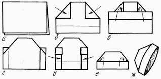 Схема шапки из бумаги