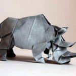 Носорог оригами