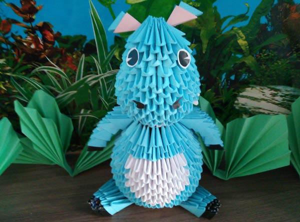Бегемот в технике модульного оригами