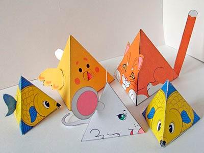 Животные в виде пирамидок