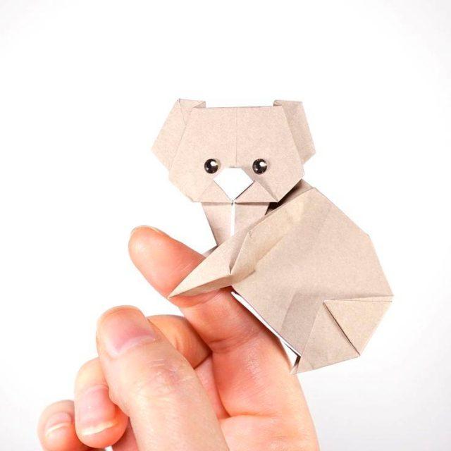 Коала в технике оригами