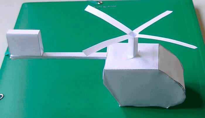 работы с бумагой и картоном модели