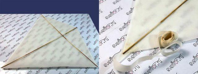 Создание воздушного змея из бумаги
