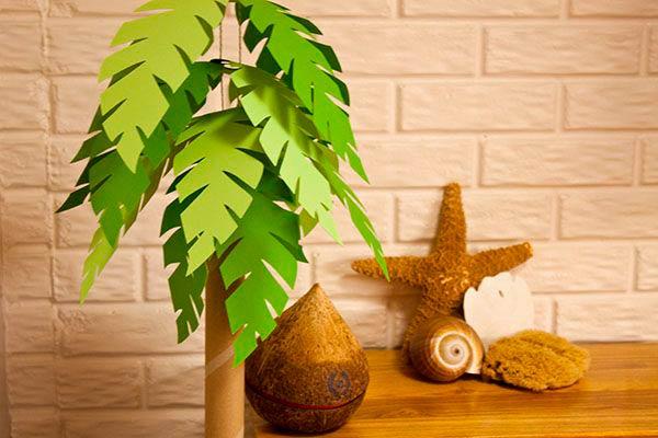 Бумажная пальма, поделка