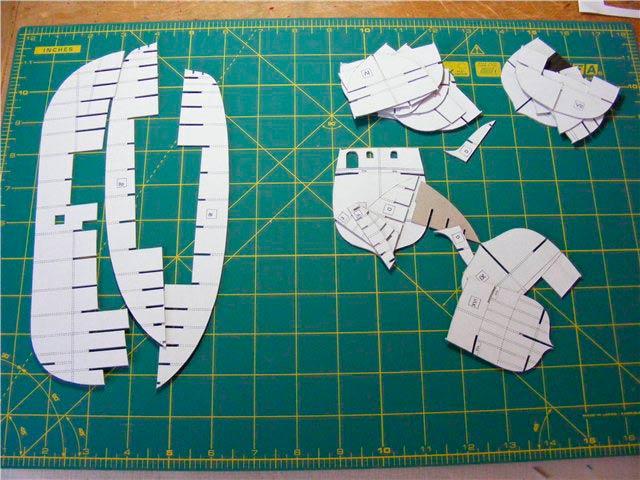 Заготовки корабля для вырезания