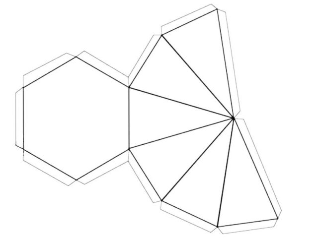 Схема шестиугольной пирамиды