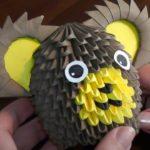 Сборка коалы в технике модульного оригами